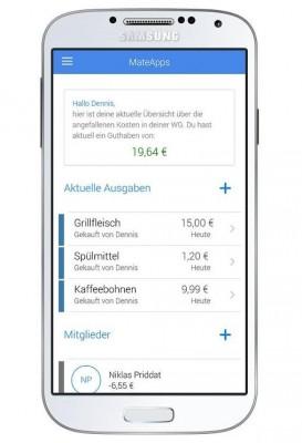 Die WG-Abrechnungs-App FlatMate hilft allen Bewohnern, sich einen Überblick über aktuelle Ausgaben der Gemeinschaft zu verschaffen (Screenshot: ITespresso)
