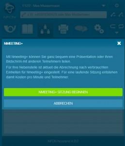 Ncontrol Sitzung Starten Nmeeting+ Sitzung starten (Screenshot: Nfon)
