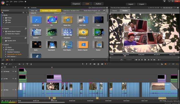 Videoschnittprogramme für Endanwender bringen viele fertige Vorlagen und Effekte mit, für das Business-Umfeld sind die aber nur selten geeignet. Der Screenshot zeigt Pinnacle Studio (Bild: Pinnacle).