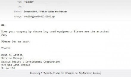 Waski-E-Mail (Screenshot: Eset)