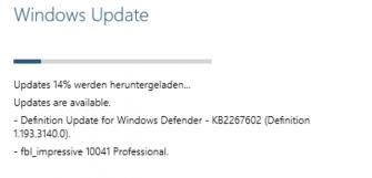 Windows-10-Update_von_Build_9926_auf_100041 (Screenshot: ZDNet.de)