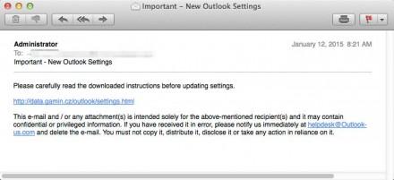 Beispiel einer typischen Spam-E-Mail im reinen Textformat, wie sie Dyre meistens nutzt (Bild: Proofpoint).