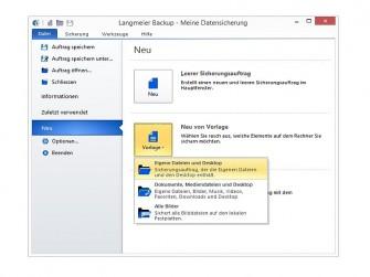 Langmeier Backup 9 Screen (Bild: Langmeier Software)