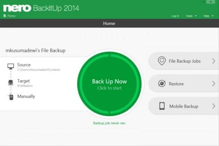 Nero Backitup 2014 Backup-Optionen (Screenshot: Nero)