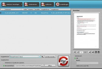 PDF-2-Word X5 Premium Screen (Bild: Bhv Software)