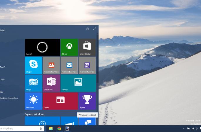 Windows 10 (Screenshot: Microsoft)