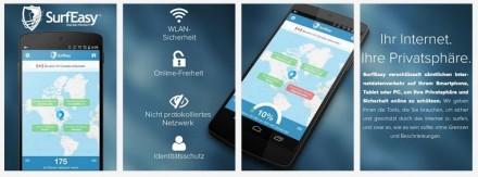 surfeasy-android (Screenshot: ZDNet.de)