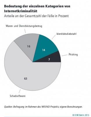 Internetdelikte in Deutschland (Grafik: DIW)