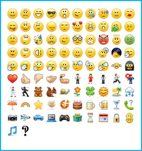 Skype emoticons hidden dirty useful message