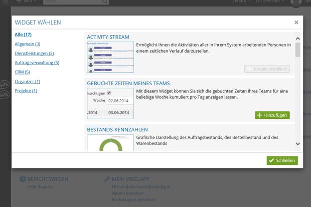Häufig vorkommende Tasks lassen sich in Widgets zusammenfassen und direkt aufrufen (Screenshot: Mehmet Toprak).