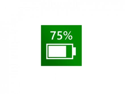 Akkustand (Bild: Microsoft)