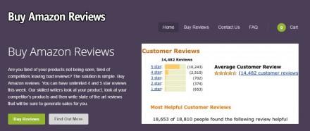 BuyAmazonReviews.com ist eine von vier beklagten Sites (Screenshot: ZDNet.de).