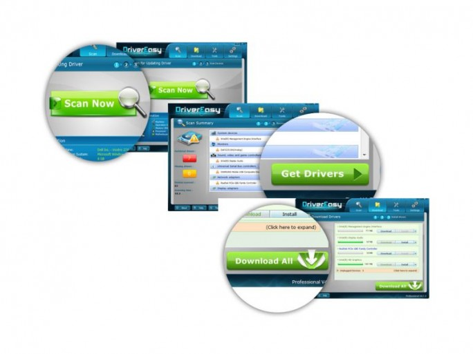 Drivereasy Screens (Bilder: Easeware Ltd.)