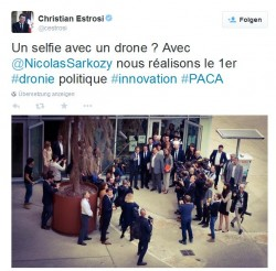 #Dronie-Tweet von Christian Estrosi (Screenshot: ITespresso)