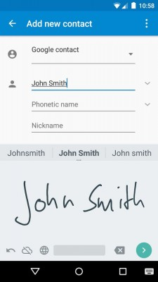 Google stellt Handschriften-App für Android bereit (Screenshot: Google)