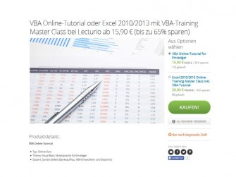 Groupon-Beispiel VBA+Excel-Kurs (Bild: Groupon)