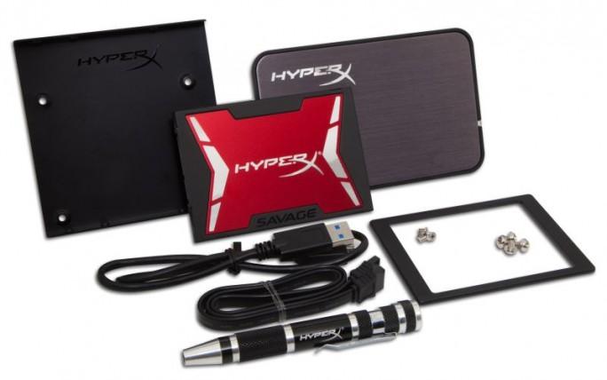 Die HyperX Savage SSD gibt es gegen Aufpreis auch als Upgrade-Kit (Bild: Kingston).