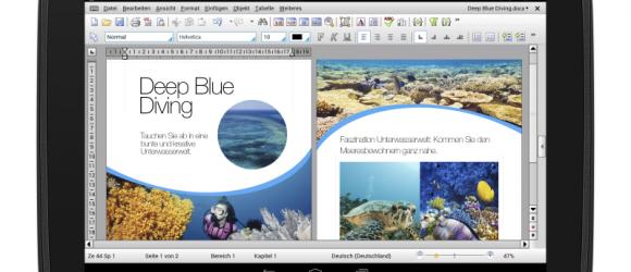 TextMaker HD, PlanMaker HD und Presentations HD für Android-Tablets gibt es jetzt auch in einer kostenlosen Basic-Variante (Bild: SoftMaker).