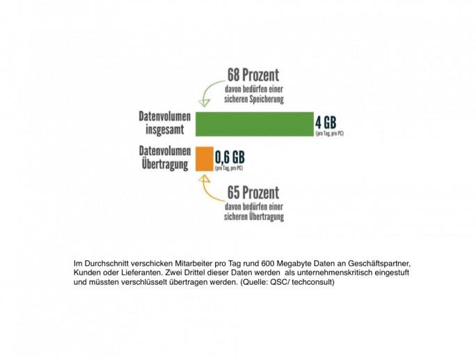Datenvolumina (Grafik: Techconsult / QSC AG)