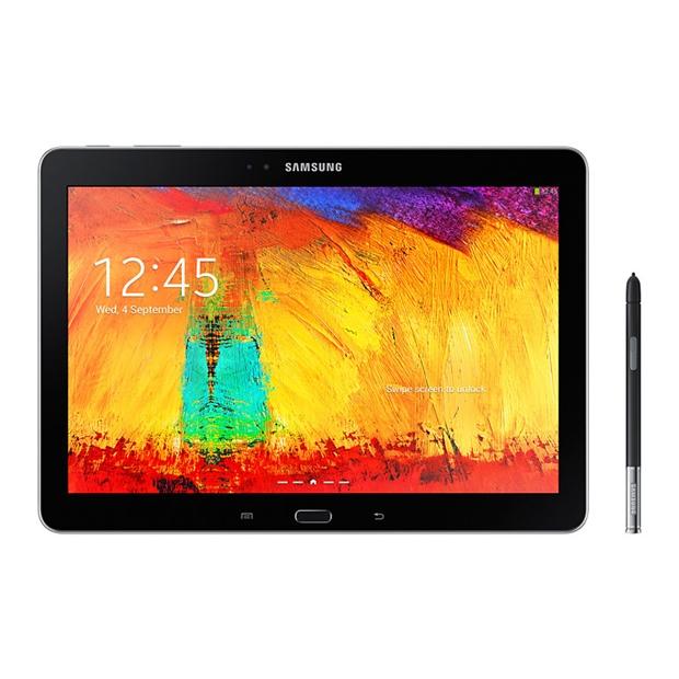 Samsungs Tablet Galaxy Note 2014 Edition wird standardmäßig mit dem S Pen ausgeliefert. Damit kann der Nutzer nicht nur auf dem Display schreiben oder zeichnen, sondern weitere Funktionen aufrufen. (Foto: Samsung).