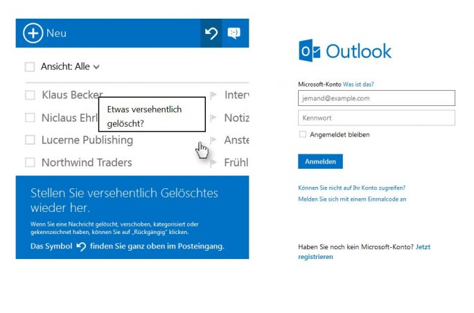 Bei der Betrugsmasche landen Nutzer einer Windows Live ID zwar auf der echten Site live.com, werden aber von einer nicht dazugehörogen Anwendung nach Anmeldedaten gefragt (Screenshot: ITespresso)