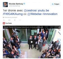 #Dronie-Tweet von Nicolas Sarkozy (Screenshot: ITespresso)