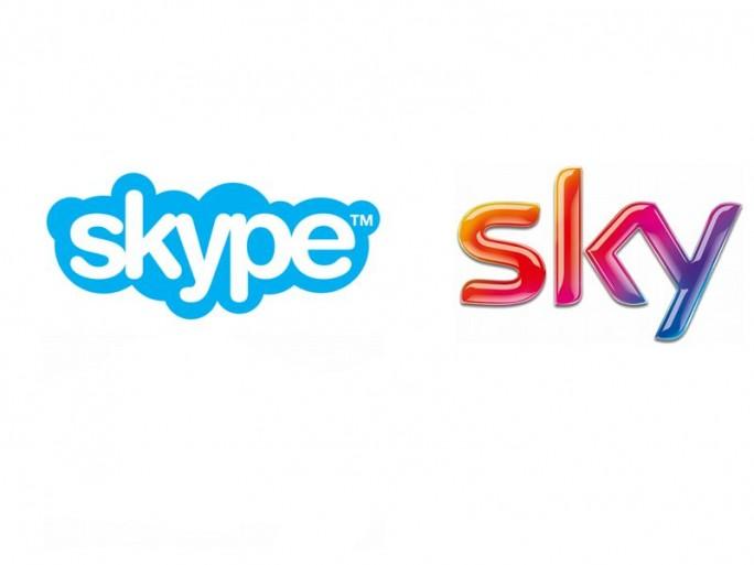 Logos Skype und Sky (Bild: Microsoft/Sky)
