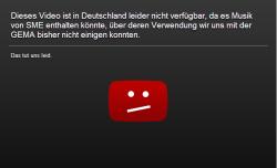Der von Youtube leicht modifizierte Sperrhinweis (Screenshot: ITespresso.de)