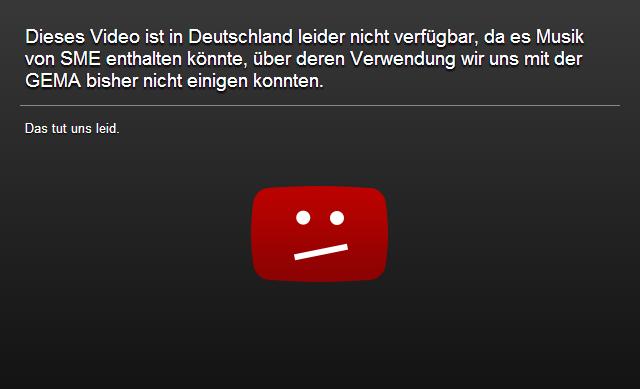 youtube-gema-sperrhinweis (Screenshot: ZDNet.de)