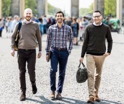 Die FYNDIQ-Gründer Micael Wiedell, Dinesh Mayar und Fredrik Norberg (von links) versuchen ihr Glück jetzt auch in Deutschland (Bild: FYNDIQ).