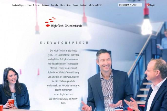 Finanzierung: Der Hightech-Gründerfonds hat nach eigenen Angaben seit 2005 insgesamt 400 Unternehmen finanzielle Starthilfe gegeben (Screenshot: Mehmet Toprak).