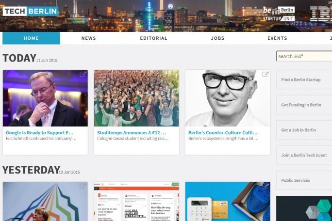 Auch IBM setzt mit seinem Webportal Techberlin.com auf die Faszination der Hauptstadt (Screenshot: Mehmet Toprak).