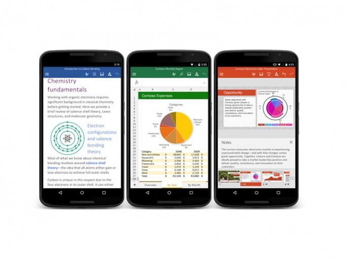 Office auf Android-Smartphones (Bild: Microsoft)