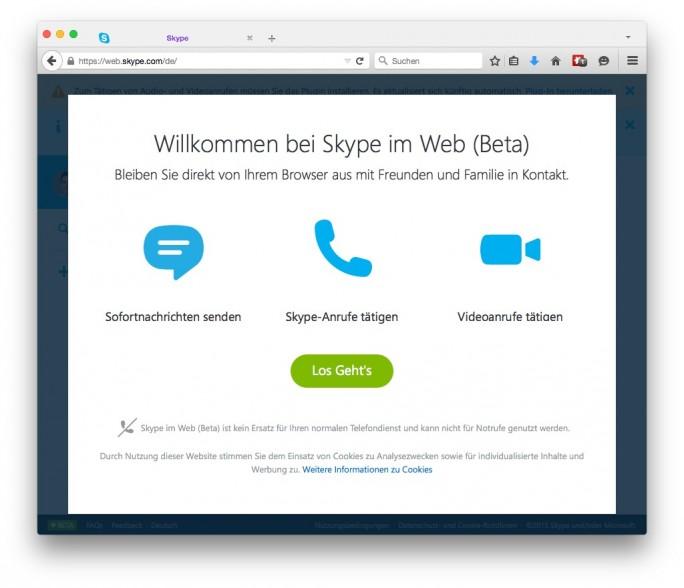 Skype_Web-App (Screenshot: ITespresso.de)