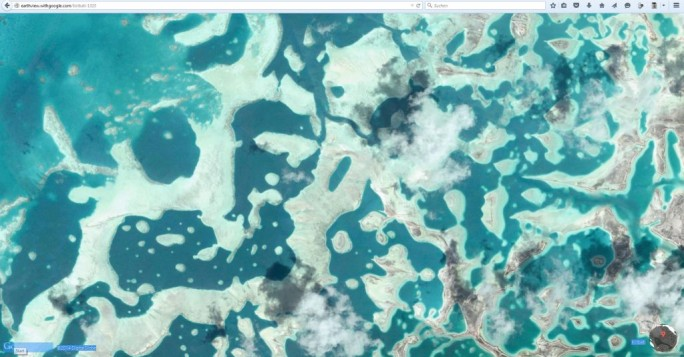 Satellitenaufnahme ds Inselstaates Kiribati in Google Earth View (Screnshot: ITespresso)