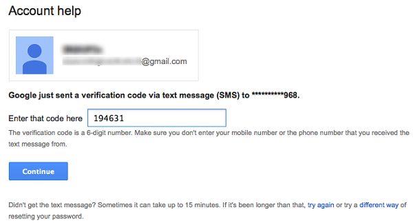Antwortet der Nutzer auf die SMS und sendet wie verlangt den vom Mail-Provider erhaltenen Code, hat der Angreifer leichtes Spiel (Screenshot: Symantec).
