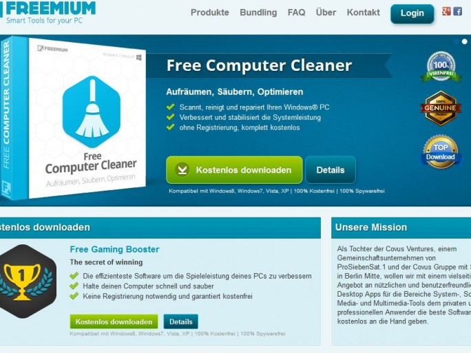 Freemium.com Website (Screenshot: ITespresso)