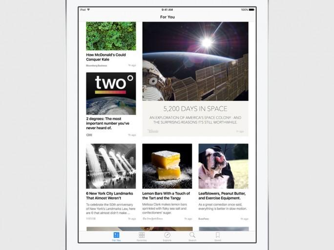 Apple zufolge  vebrindet die neue News-App das Design eines Print-Magazins mit der Interaktivität digitaler Medien (Bild: Apple).