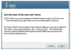Yahoo-Suche beim Java-Update (Bild: Oracle)