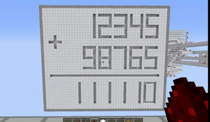 Eine Einsatzmöglichkeit: Minecraft im Mathematikunterricht (Screenshot: ITespresso).
