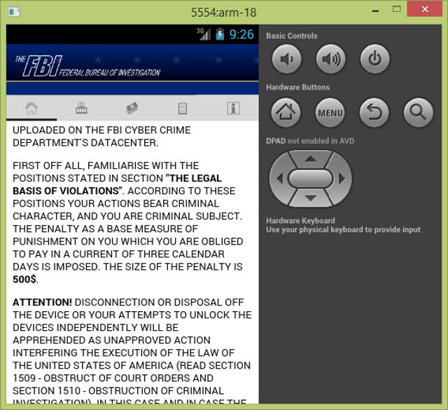 Android-ransomware (Screenshot: Bitdefender)
