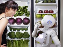 Alle Grillwürstchen versteckt? Da lacht nicht nur die Hausfrau schelmisch, auch der Roboter kann sich ein Kichern nicht verkneifen (Bild: Aldebaran).