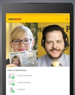 Die Postident-Video App für Android ermöglicht nun auch die ortsunabhängige, rechtssichere Identifikation. Allerdings sollte man den Ausweis von Frau Mustermann dazu nur verwenden, wenn man auch so heißt (Bild: Deutsche Post)