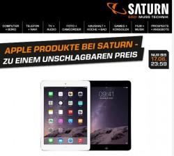 Saturn hat zwar den Tech-Nick, bei der Behauptung, die aktuellen Preise für Apple-Produkte seien unschlagbar, fehlt aber der Durchblick (Screenshot: ITespresso)