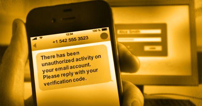 SMS-Betrusgmasche (Grafik: Symantec)