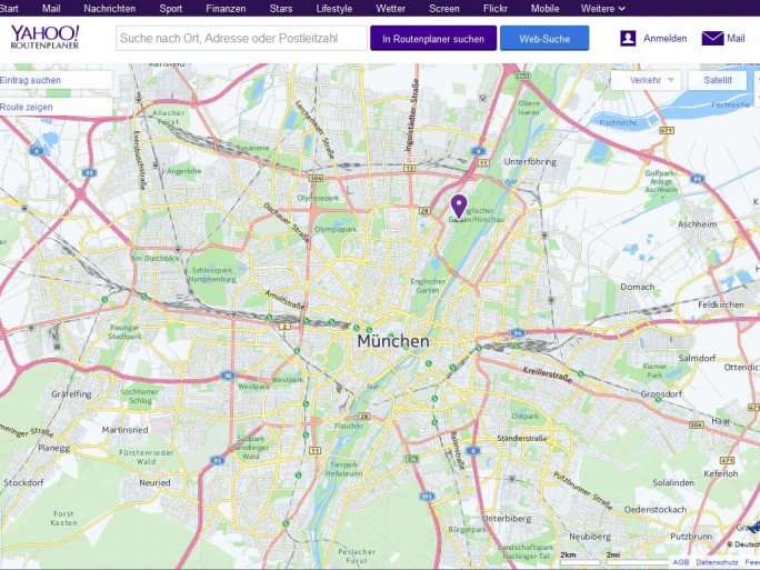 Yahoo Maps (Screenshot: ITespresso)