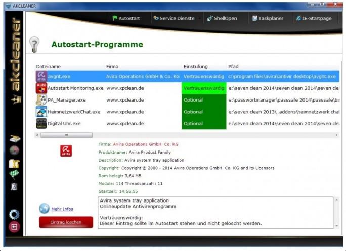 AKCleaner Autostart (Screenshot: Mehmet Toprak)