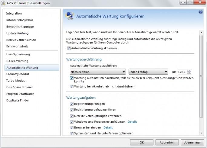 Fortgeschrittene Anwender können mit PC Tune Up tief ins System eingreifen. (Screenshot: Mehmet Toprak)