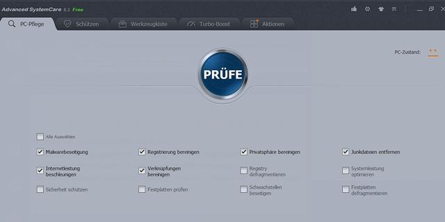 Advanced SystemCare (Screenshot: Mehmet Toprak)