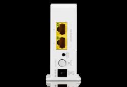 Besonderheit beim Air4820: zwei Etehrnet-Ports um Geräet ohen WLAN-Modul ins drahtlose Netz zu holen (Bild: AirTies)